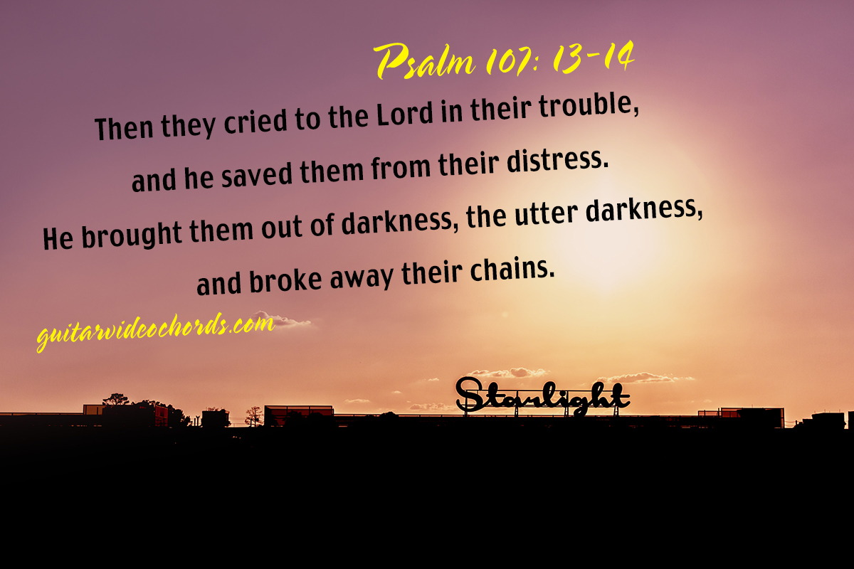 Psalm 107:13 Bible Art Pictures, Images, Inspirational